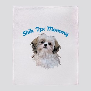 Shih Tzu Mommy Throw Blanket